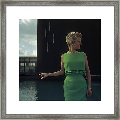 Green Two-piece Framed Print