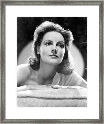 Greta Garbo Framed Print by Evening Standard