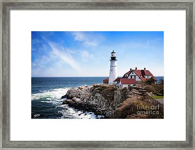 Framed Print featuring the photograph Guardian Of The Sea by Scott Kemper