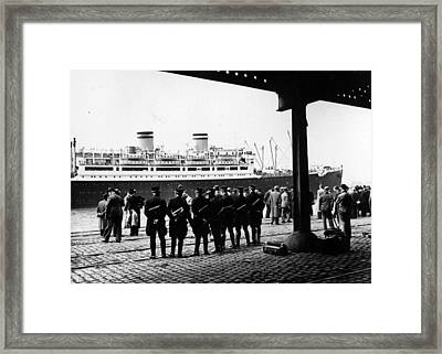 Guarding The St Louis Framed Print by Three Lions