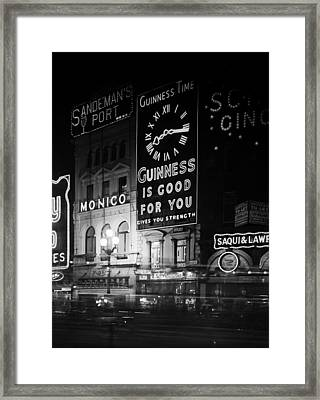 Guinness Time Framed Print by General Photographic Agency