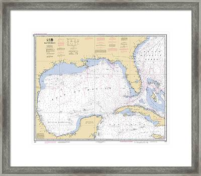 Gulf Of Mexico, Noaa Chart 411 Framed Print