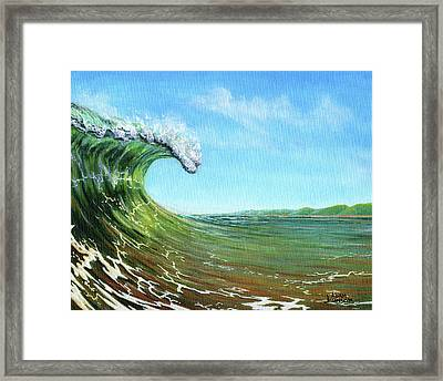 Gulf Of Mexico Surf Framed Print