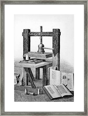 Gutenberg Printing Press Framed Print by Authenticated News