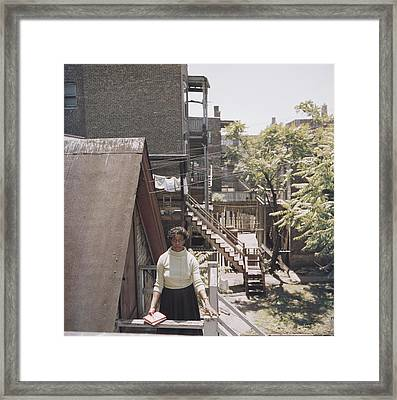 Gwendolyn Brooks, Chicago Poet Framed Print by Slim Aarons
