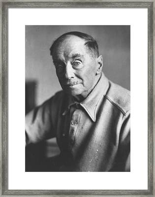 H G Wells Framed Print by Keystone