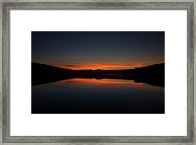 Sunset In The Reservoir Framed Print