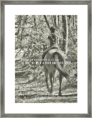 Hacking Quote Framed Print by JAMART Photography