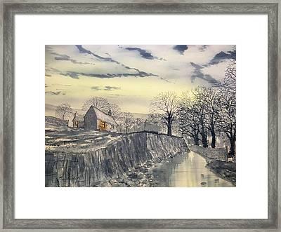 Hag Dyke By Moonlight Framed Print