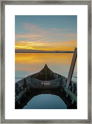 Framed Print featuring the photograph Half A Boat by Bruno Rosa