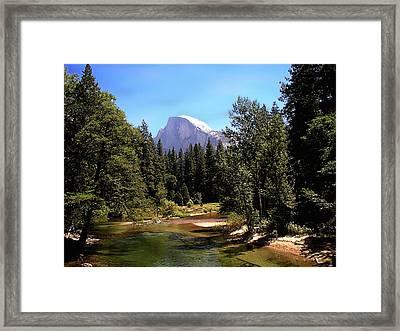 Half Dome From Ahwanee Bridge - Yosemite Framed Print