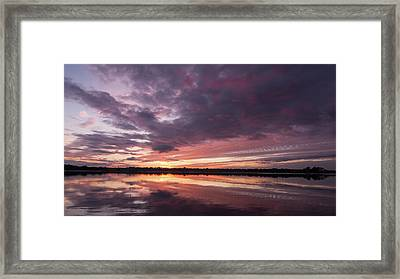 Halifax River Sunset Framed Print