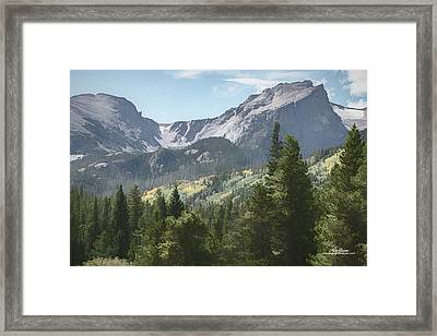 Hallett Peak Colorado Framed Print