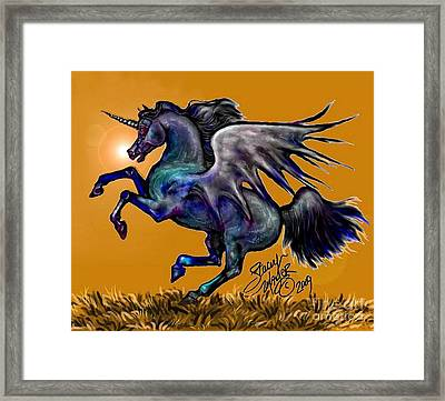 Halloween Fantasy Horse Framed Print
