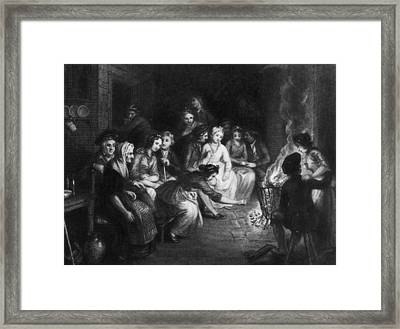 Halloween Gathering Framed Print by Hulton Archive