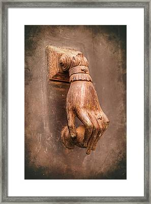 Hand Door Knocker Toulouse France Framed Print