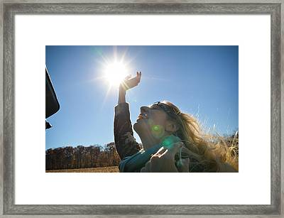 Framed Print featuring the photograph Handful Of Sunshine by Carl Young