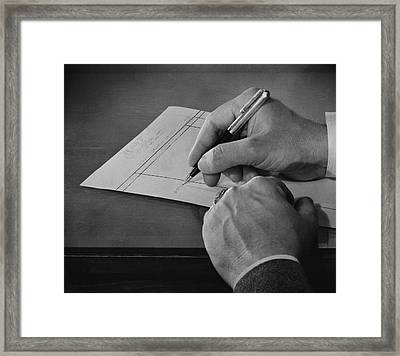 Handwriting Framed Print by Archive Photos
