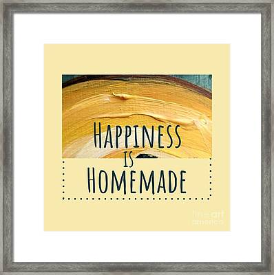 Framed Print featuring the painting Happiness Is Homemade #2 by Maria Langgle