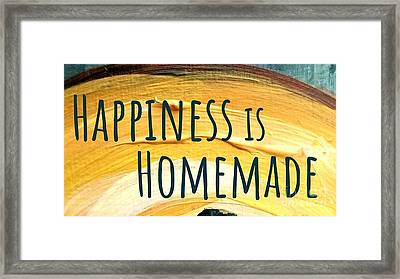Framed Print featuring the painting Happiness Is Homemade by Maria Langgle