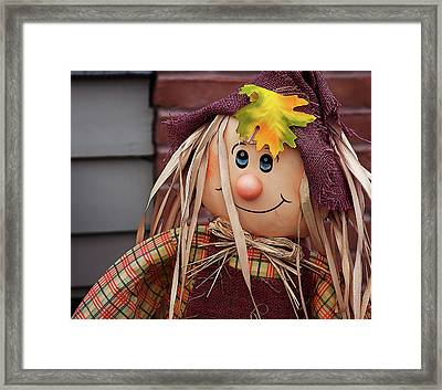 Framed Print featuring the photograph Happy Thanksgiving Doll by Tatiana Travelways