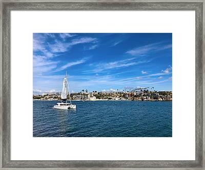 Harbor Sailing Framed Print