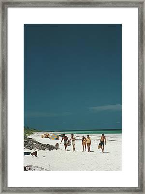 Harbour Isle Beach Framed Print by Slim Aarons