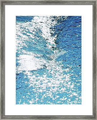Hard Water Abstract Framed Print