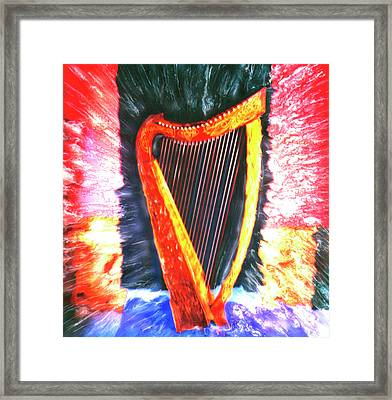 Harp Framed Print by Claire Rydell