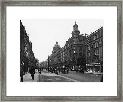 Harrods Department Store Framed Print by London Stereoscopic Company