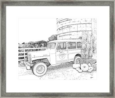 Harvest At Magnolia - Ink Framed Print