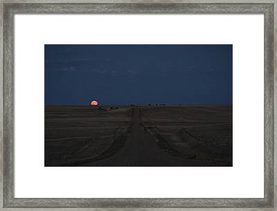 Framed Print featuring the photograph Harvest Moon 1 by Carl Young