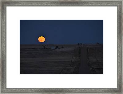 Framed Print featuring the photograph Harvest Moon 2 by Carl Young