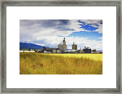 Framed Print featuring the photograph Harvest Time In Idaho 2 by Tatiana Travelways