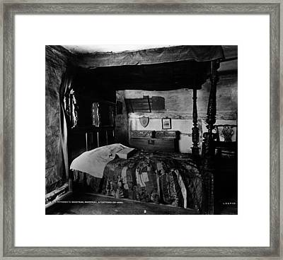 Hathaways Bed Framed Print by London Stereoscopic Company