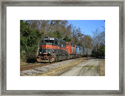 Framed Print featuring the photograph Hatx 516 Train Color by Joseph C Hinson Photography