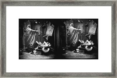 Haunted House Framed Print by London Stereoscopic Company