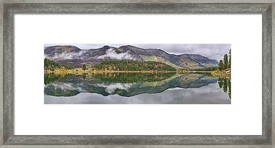 Framed Print featuring the photograph Haviland Lake Pano by Theo O'Connor