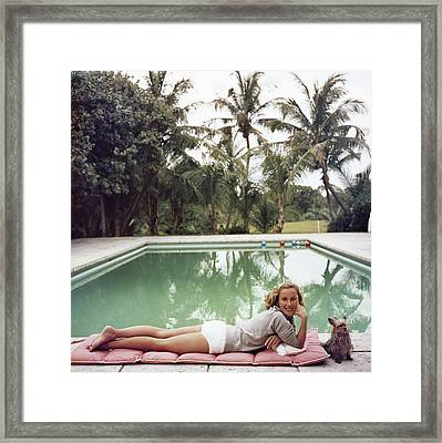 Having A Topping Time Framed Print by Slim Aarons