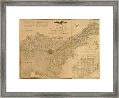 Havre De Grace, Susquehanna River And Framed Print