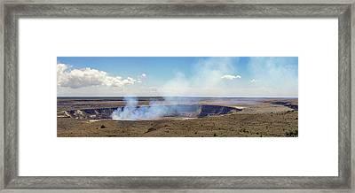 Hawaii Hale Ma'uma'u Volcano Crater Framed Print