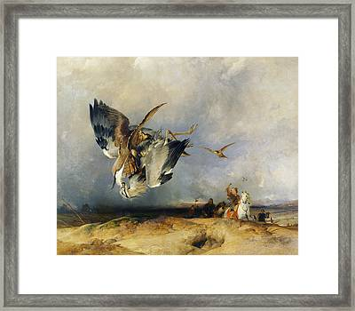 Hawking In The Olden Time Framed Print