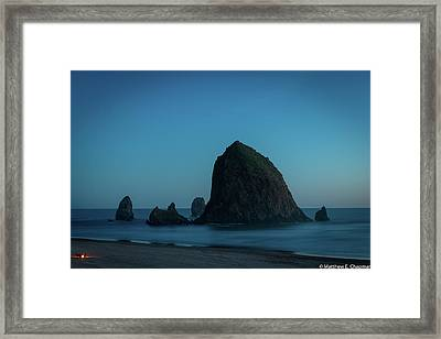 Haystack And Needles Framed Print