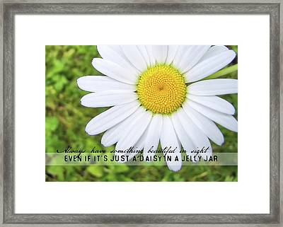 He Loves Me Quote Framed Print