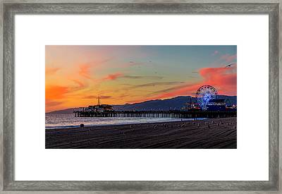 Heading Home At Dusk Framed Print
