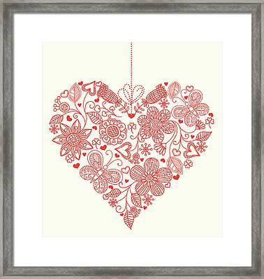 Heart Background Framed Print by Pworld