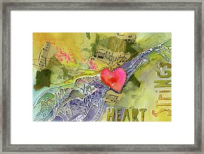 Heart Strings Framed Print