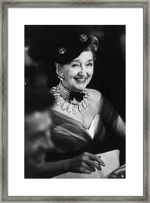 Hedda Hopper Framed Print by Slim Aarons