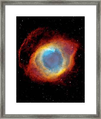 Helix Nebula Framed Print by Design Pics