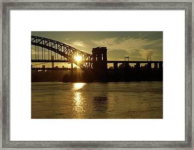 Hellgate Sun Beam Framed Print